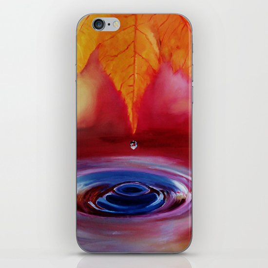 Autumn rain iPhone & iPod Skin