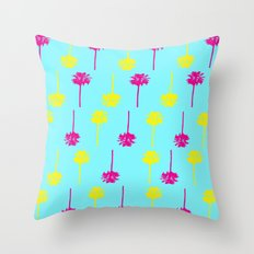 Palm Tree Madness  Throw Pillow
