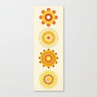 Sunburst: Yellow Canvas Print