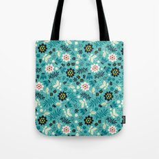 Fresh Blossoms (Greens) Tote Bag