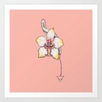Earth Orchid Art Print
