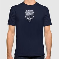 SHIELD Mens Fitted Tee Navy SMALL