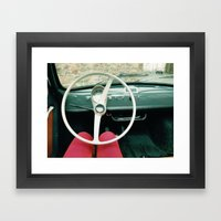 From Behind The Wheel - … Framed Art Print