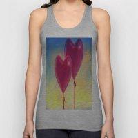 Love heart Balloons Unisex Tank Top