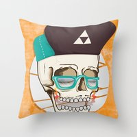 Hell Yeah Skull Throw Pillow