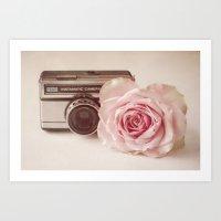 Rose & The Camera  Art Print
