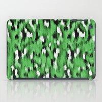 Green Leopard Pattern iPad Case