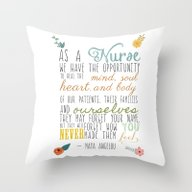 As A Nurse... Throw Pillow