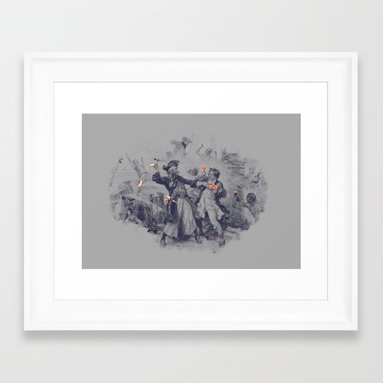Epic Battle Framed Art Print