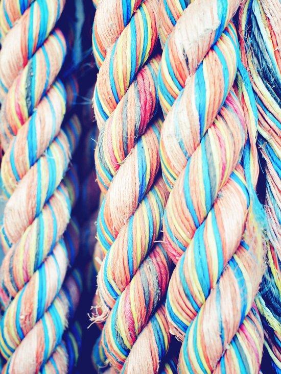 Rainbow Rope Art Print