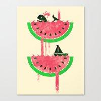 Watermelon falls Final Canvas Print