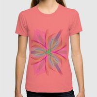 Star Womens Fitted Tee Pomegranate SMALL