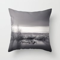 Mammoth Lagoon. Monochro… Throw Pillow