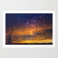Magic Sunset Art Print