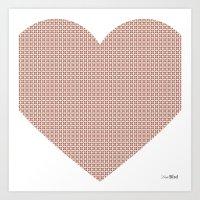 I love you this much... (light purple) Art Print