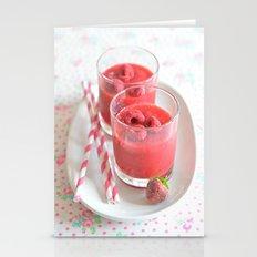 Raspberry Smoothie Kitch… Stationery Cards
