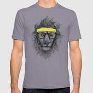T-shirt featuring Hipster Lion by Balazs Solti