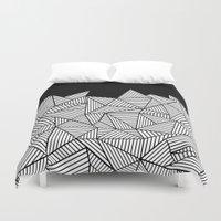 Abstraction Mountain Duvet Cover