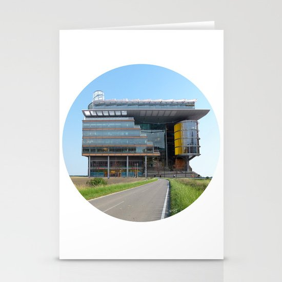 Surreal CityLand Collage 2 Stationery Card