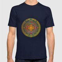 Aztec Sun God Mens Fitted Tee Navy SMALL