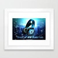 Dub your step Framed Art Print