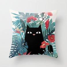 Popoki Throw Pillow