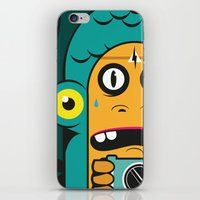 Danger at the moment of the click iPhone & iPod Skin
