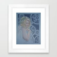Winter Lace Framed Art Print