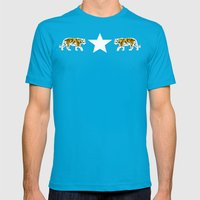 Hear Me Roar | Animal Mens Fitted Tee Teal SMALL