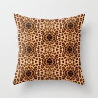 Leopard Print Kaleidosco… Throw Pillow