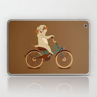 Puppy on the bike Laptop & iPad Skin