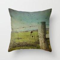 Wild West Fence  Throw Pillow