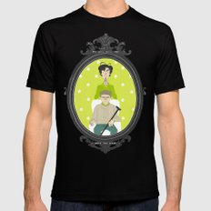 Family Portrait Black Mens Fitted Tee SMALL