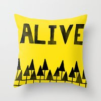 ALIVE Throw Pillow