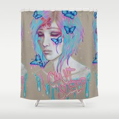 I Can't Sleep Shower Curtain