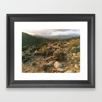 Borrego Desert Sunset Framed Art Print