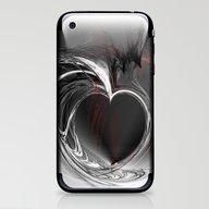 Heart Black iPhone & iPod Skin