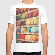 Colors Mens Fitted Tee SMALL White
