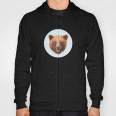 Brown Bear portrait Hoody