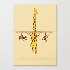 Frustrated Giraffe Canvas Print