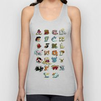 The Disney Alphabet Unisex Tank Top