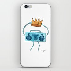 Boombox Holding A Paper … iPhone & iPod Skin
