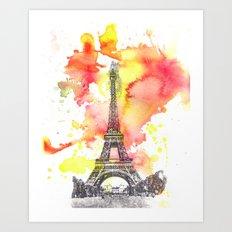 Eiffel Tower in Paris France Art Print