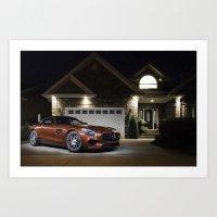 Mercedes-AMG GT S in Driveway Art Print