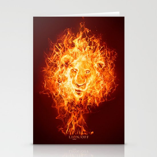 Lion/off Power Stationery Card
