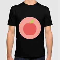 #65 Apple SMALL Black Mens Fitted Tee