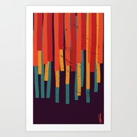Squared Stripes Art Print