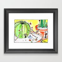 Travelling Postcard #1 - If you look closer ... Framed Art Print