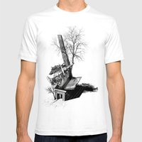 Immerse & Pondering Mens Fitted Tee White SMALL