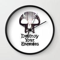 Destroy your Enemis Wall Clock